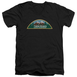 Image for Twin Peaks V Neck T-Shirt - Sheriff Department