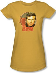 Image for Six Million Dollar Man Running Faster Girls Shirt