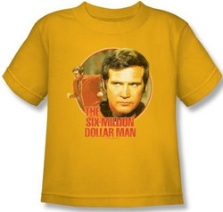 Image for Six Million Dollar Man Running Faster Kids T-Shirt