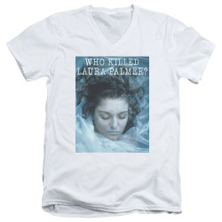 Image for Twin Peaks V Neck T-Shirt - Who Killed Laura Palmer