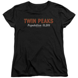 Image for Twin Peaks Womans T-Shirt - Population 51,201