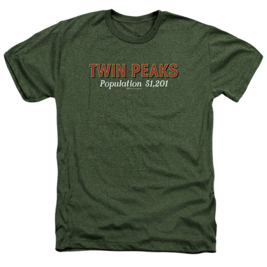 Image for Twin Peaks Heather T-Shirt - Population
