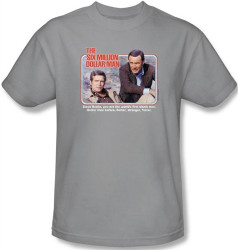 Image Closeup for Six Million Dollar Man the First Bionic Man T-Shirt