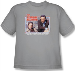Image for Six Million Dollar Man the First Bionic Man Youth T-Shirt