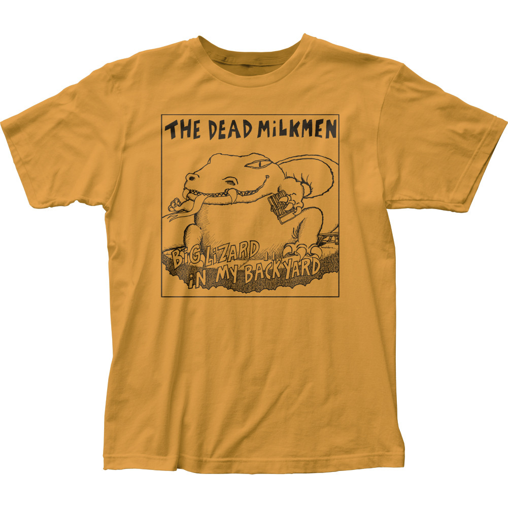 Lizard In My Backyard the dead milkmen big lizard in my backyard t-shirt - nerdkungfu