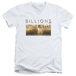 Image for Billions V Neck T-Shirt - Golden City