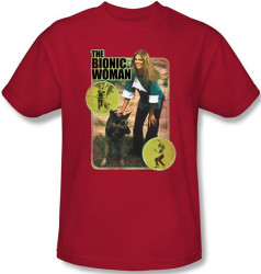Image Closeup for The Bionic Woman Jamie and Max T-Shirt