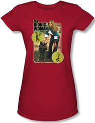 Image for The Bionic Woman Jamie and Max Girls Shirt