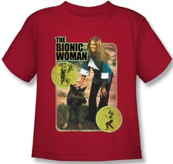 Image for The Bionic Woman Jamie and Max Kids T-Shirt