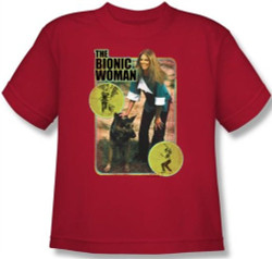 Image for The Bionic Woman Jamie and Max Youth T-Shirt