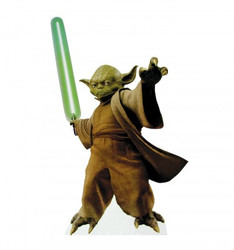 Image for Star Wars Lifesize Standup - Yoda with Lightsaber