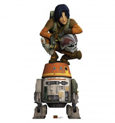 Image for Star Wars Lifesize Standup - Ezra and Chopper Star Wars Rebels
