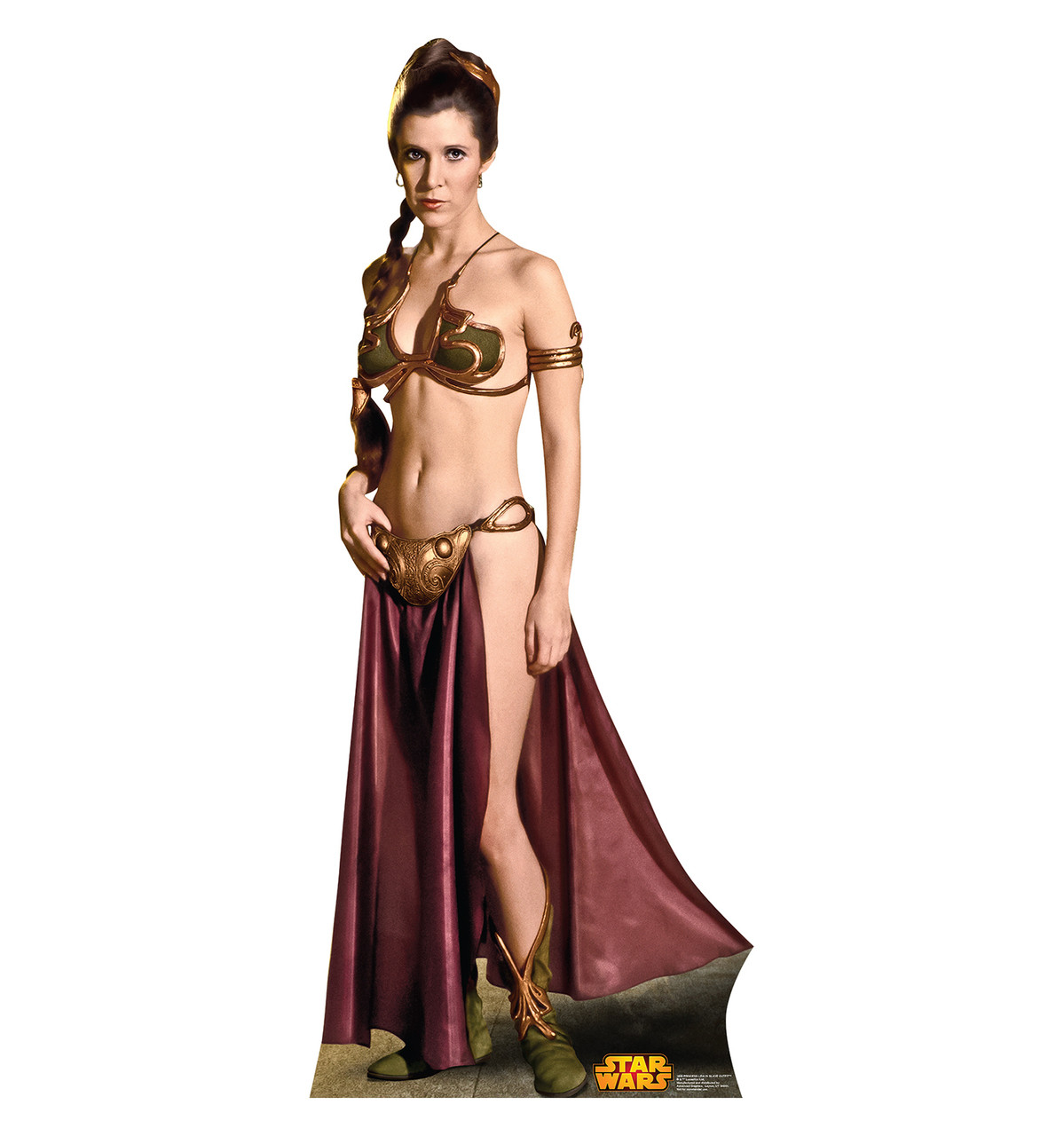 a9294925b01 Image for Star Wars Lifesize Standup - Princess Leia Slave Girl Classic.  Loading zoom