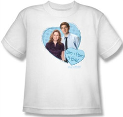 Image for The Office Jim & Pam 4 Ever Youth T-Shirt
