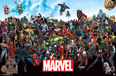 Image for Marvel Poster - Characters Line Up