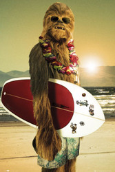Image for Star Wars Chewie Surfboard Poster