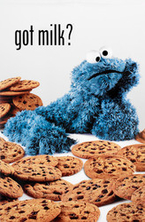 Image for Sesame Street Cookie Monster Got Milk? Poster