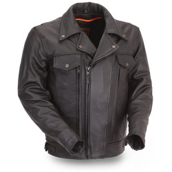 Front image for Mastermind Cruising Leather Jacket