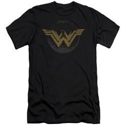Image for Wonder Woman Movie Premium Canvas Premium Shirt - Distressed Logo