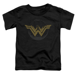 Image for Wonder Woman Distressed Logo Poster Toddler T-Shirt