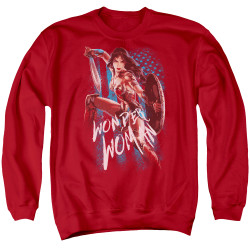 Image for Wonder Woman Movie Crewneck - American Hero