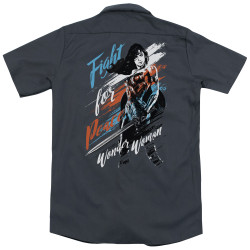 Image for Wonder Woman Movie Dickies Work Shirt - Fight for Peace