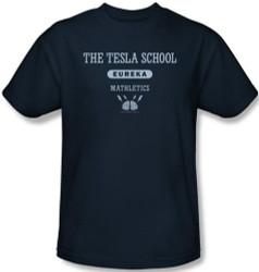 Image Closeup for Eureka Tesla School T-Shirt