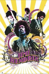 Image for Jimi Hendrix Poster - Collage