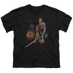 Image for Wonder Woman Movie Youth T-Shirt - Fierce