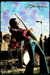 Image for Jimi Hendrix Poster - Live on Stage