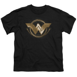 Image for Wonder Woman Movie Youth T-Shirt - Lasso Logo