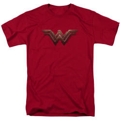 Image for Wonder Woman Movie T-Shirt - Wonder Woman Logo on Cardinal