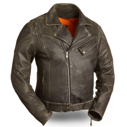 Image for 60's New Yorker Distressed M/C Leather Jacket