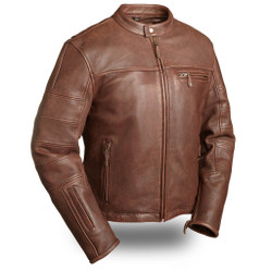 Image for The Manchester Brown M/C Leather Jacket