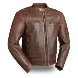Image for Carbon Brown M/C Leather Jacket