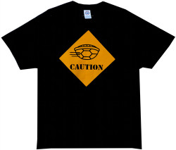 Image Closeup for Caution Turtle Shell T-Shirt