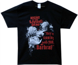 Image Closeup for Night of the Living Dead T-Shirt - Barbara