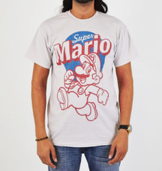 Image for Super Mario Distressed T-Shirt