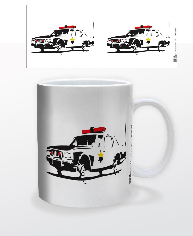 f948177a37586 Cop Car Coffee Mug - NerdKungFu