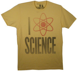 Image Closeup for New Standard I Love Science T-Shirt