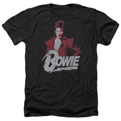 Image for David Bowie Heather T-Shirt - Diamond Dave