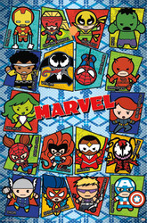 Image for Marvel Kawaii Grid Poster