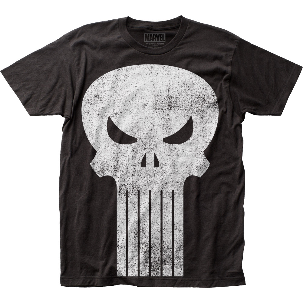 b458496144fbf5 The Punisher T-Shirt - Teeth Logo - NerdKungFu