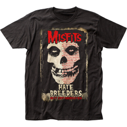 Image for The Misfits T-Shirt - Hate Breeders Big Print