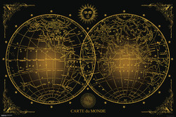 Image for World Map Poster - Carte du Monde