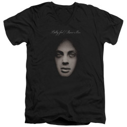 Image for Billy Joel V Neck T-Shirt - Piano Man Cover