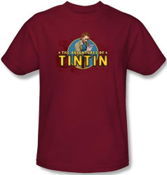 Image for The Adventures of Tintin Looking for Clues T-Shirt