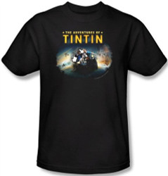 Image Closeup for The Adventures of Tintin Journey T-Shirt