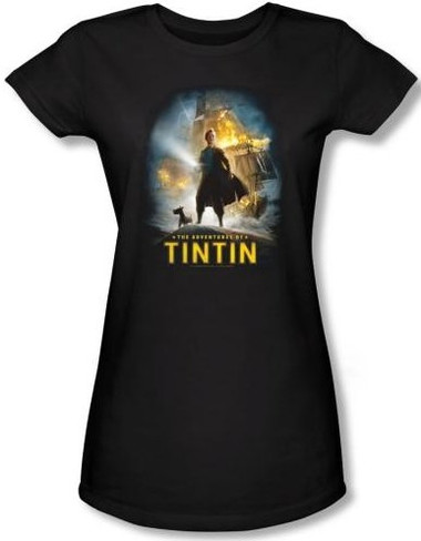 Image for The Adventures of TinTin Girls Shirt - Poster
