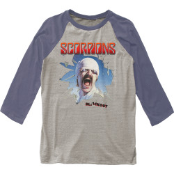 Image for Scorpions Blackout 3/4 Sleeve Raglan T-Shirt